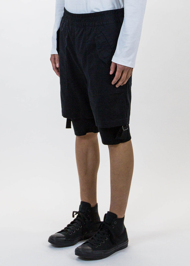 Black Double Layered Shorts