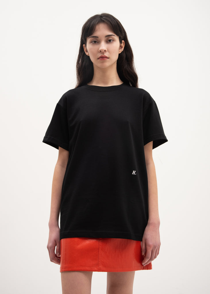 Helmut Lang, Black HL Logo Military T-Shirt, 017 Shop