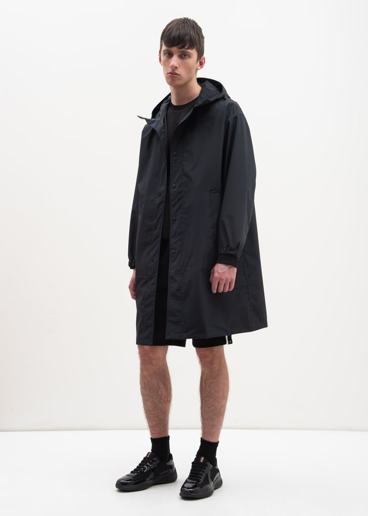 Helmut Lang, Black Hooded Raincoat (Special Project), 017 Shop