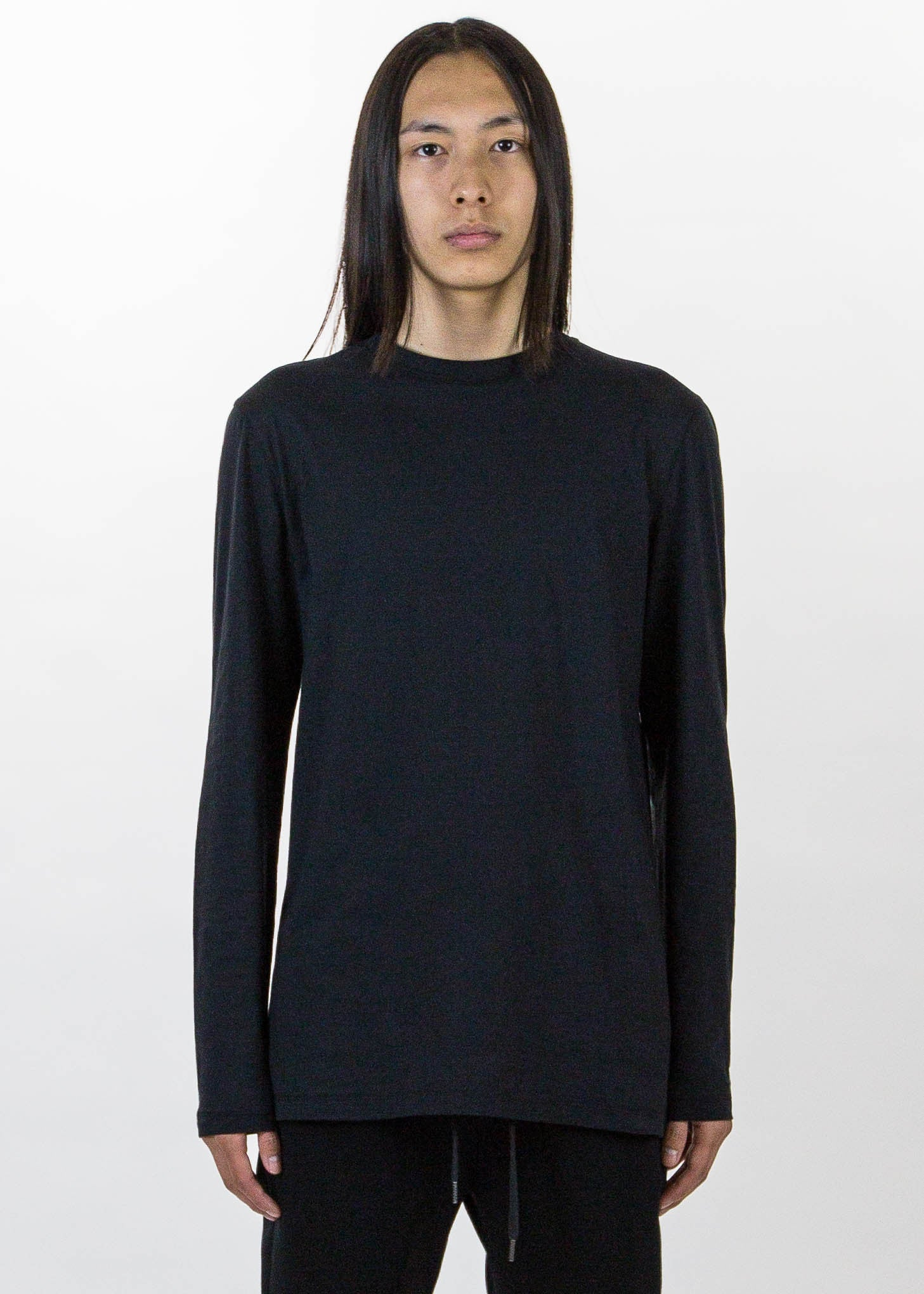 Black LS Tee Brushed Jersey