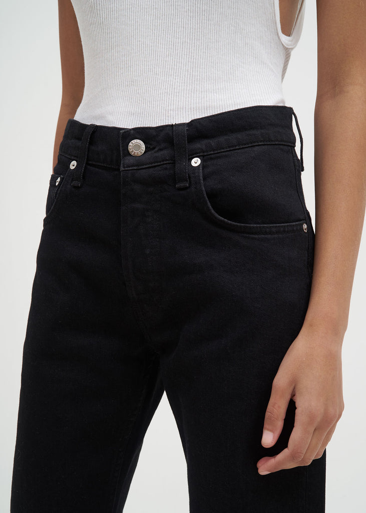 Black Masc Hi Straight Jeans in Black