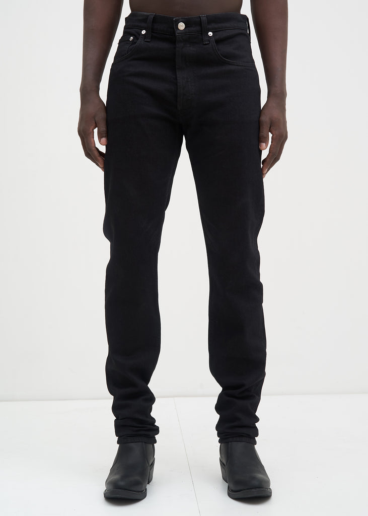 Helmut Lang, Black Masc Hi Straight Jeans in Black, 017 Shop
