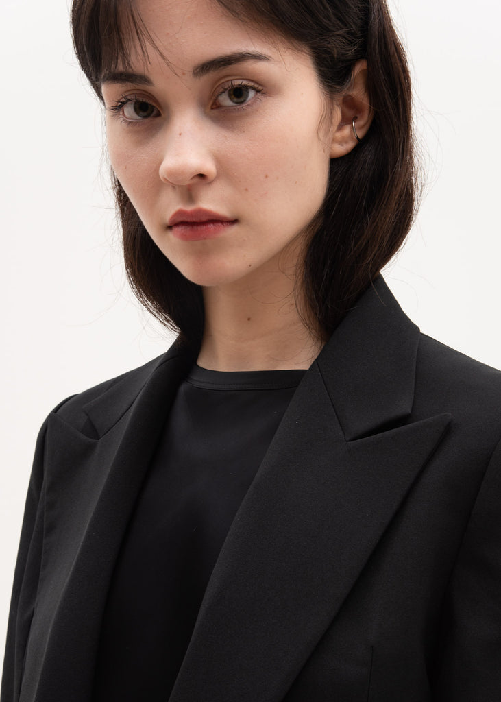Helmut Lang, Black Peak Lapel Blazer, 017 Shop
