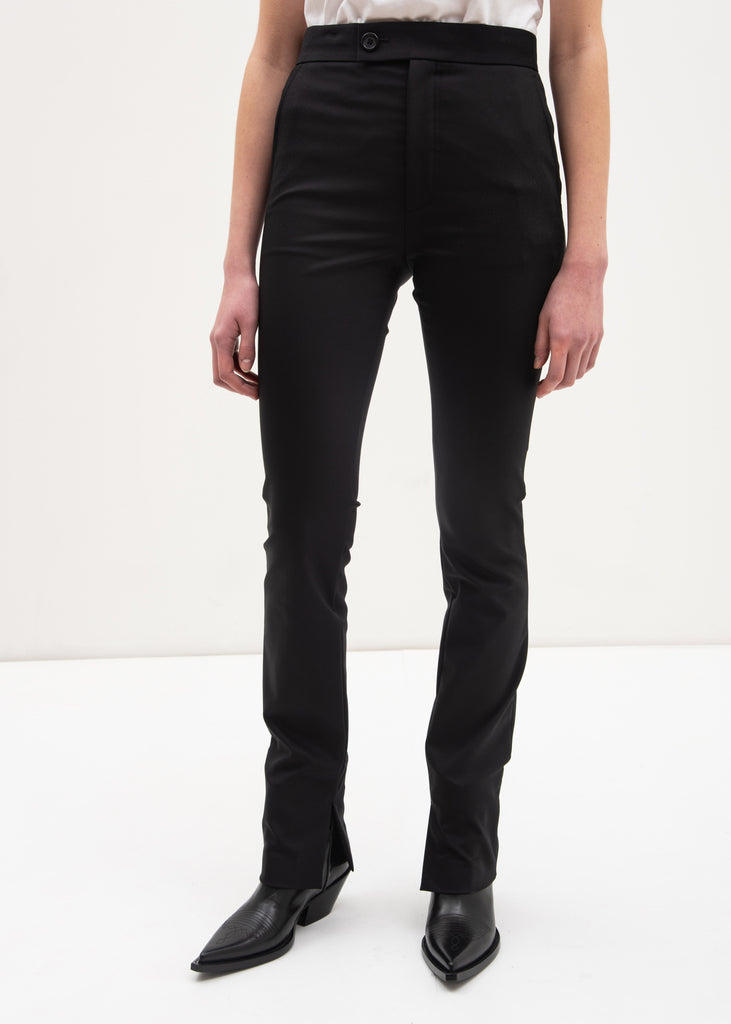 Black Polished Legging Pants