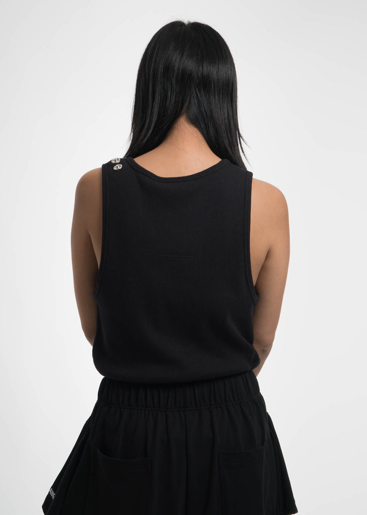 Helmut Lang, Black Reveal Tank Top, 017 Shop