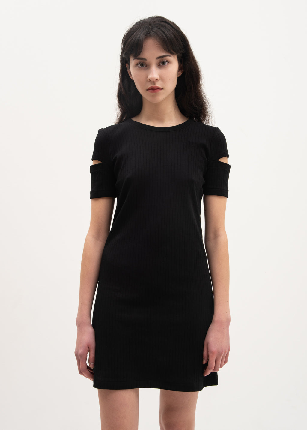Helmut Lang, Black Ribbed Dress, 017 Shop