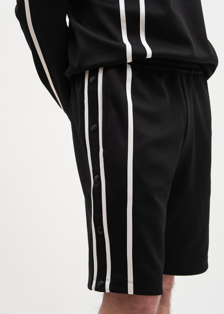 Helmut Lang, Black Sport Stripe Shorts, 017 Shop