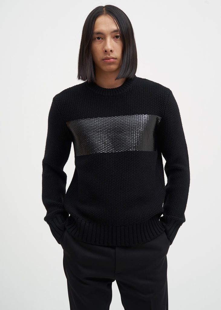 Helmut Lang, Black Wool PR Crewneck, 017 Shop