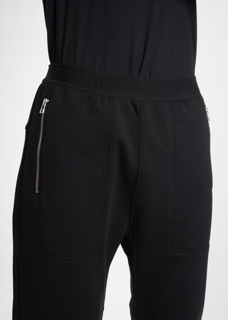 Helmut Lang, Black Zip Jogger, 017 Shop