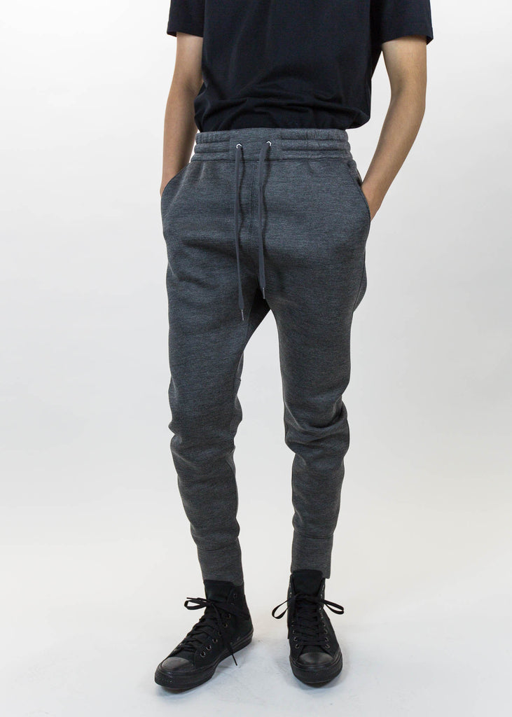 Dark Charcoal Curved Leg Track Pant