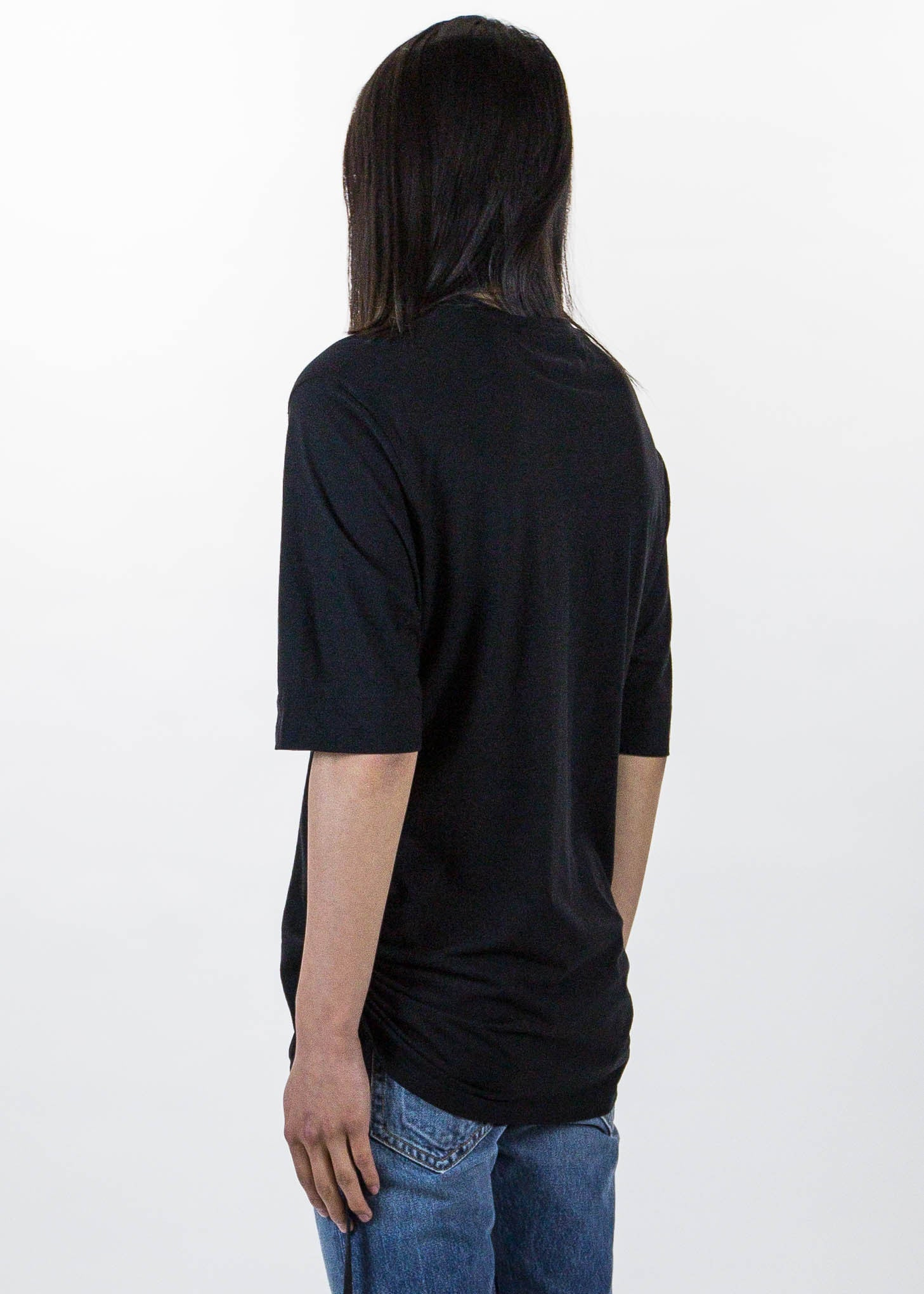 Black Drawcord T-Shirt