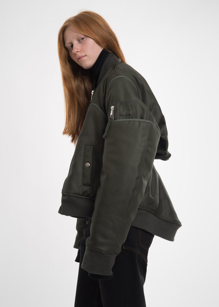 Green Four Sleeved Bomber Jacket
