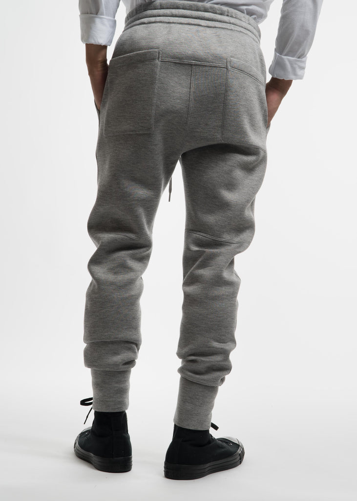 Heather Grey Curved Leg Track Pant