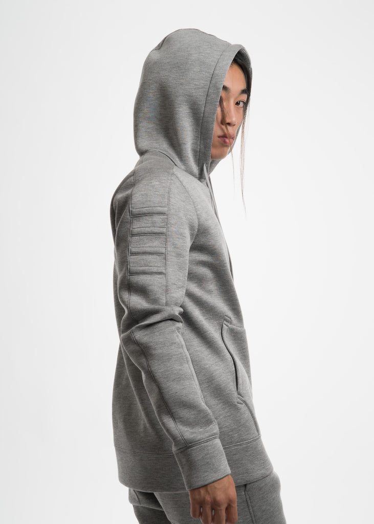 Heather Grey Tape Zip Up