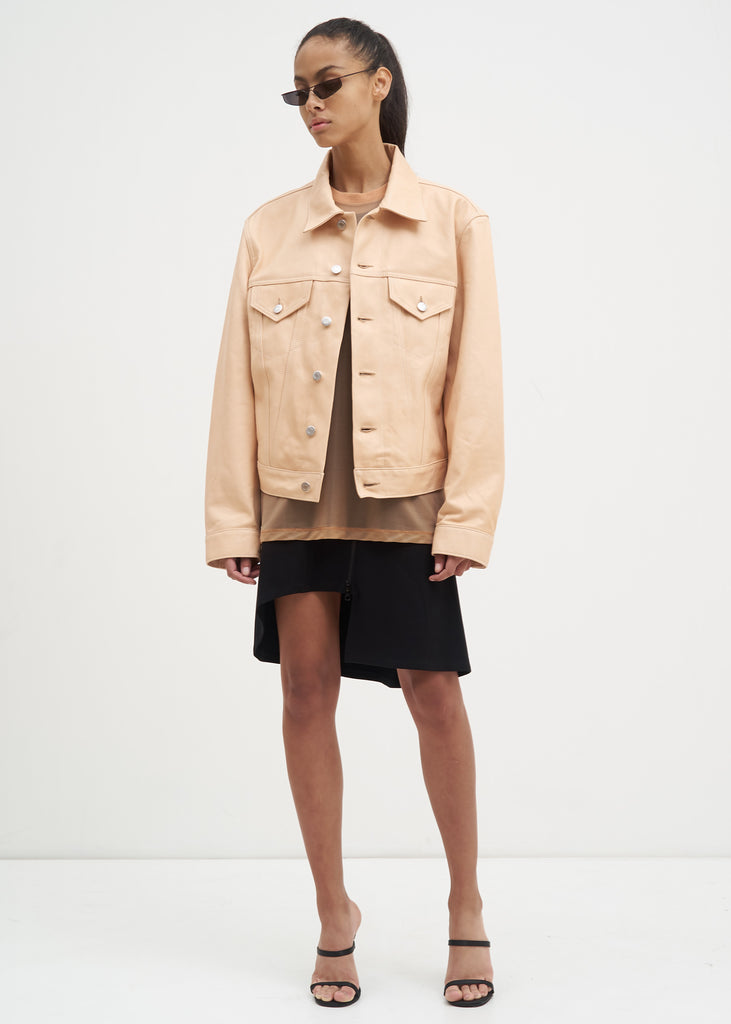 Helmut Lang, Natural Lamb Leather Masc Trucker Jacket, 017 Shop