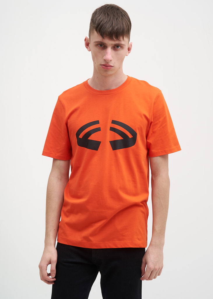 Orange Halloween Printed T-Shirt