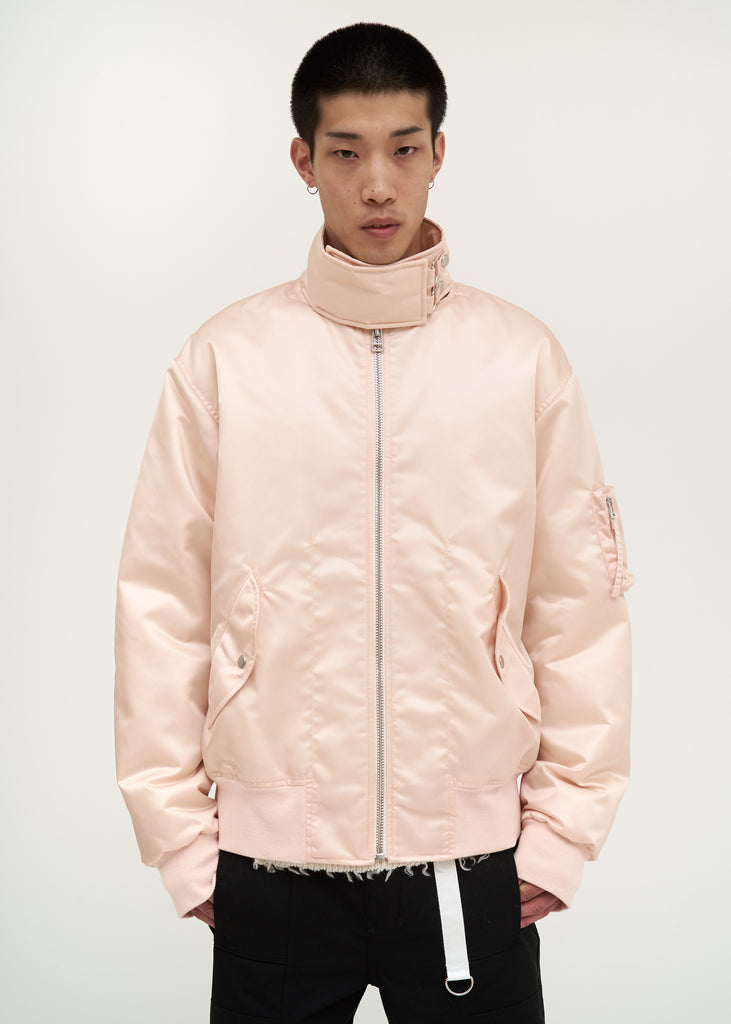 Helmut Lang, Pink Panel Neck Bomber, 017 Shop