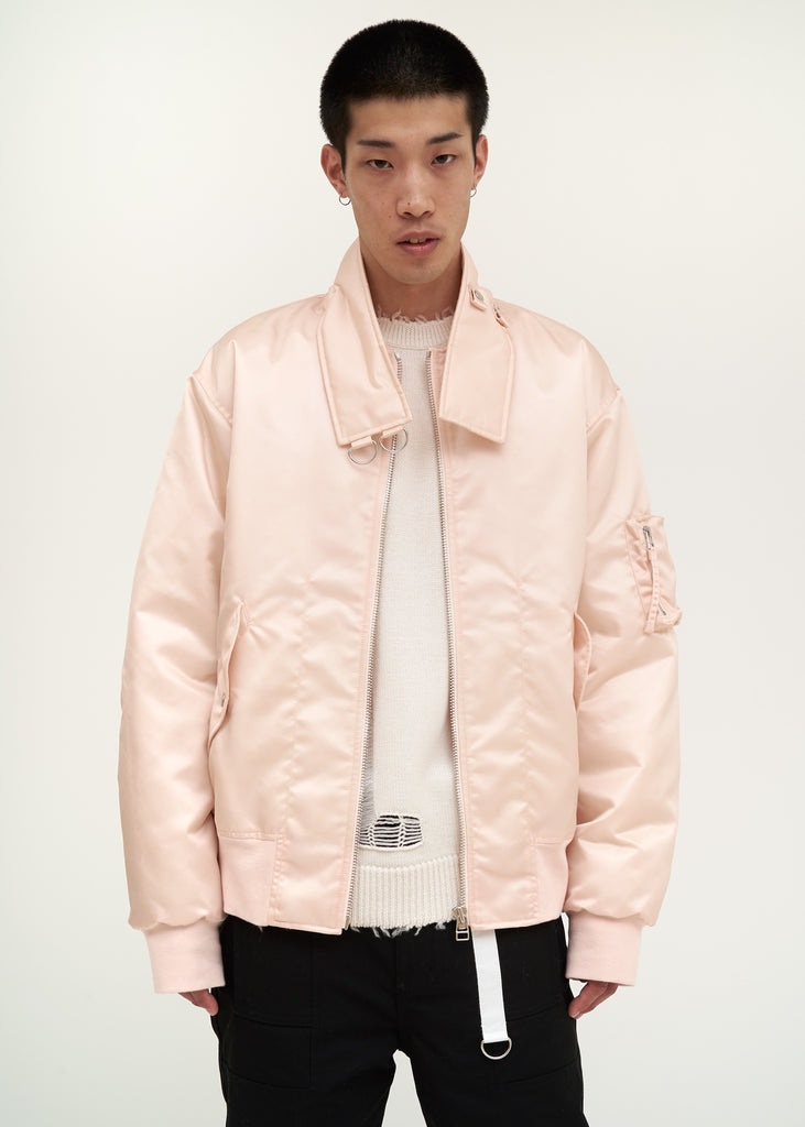 Pink Panel Neck Bomber