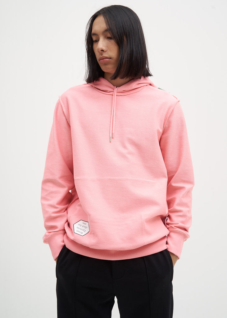 Pink Patch Pocket Hoodie