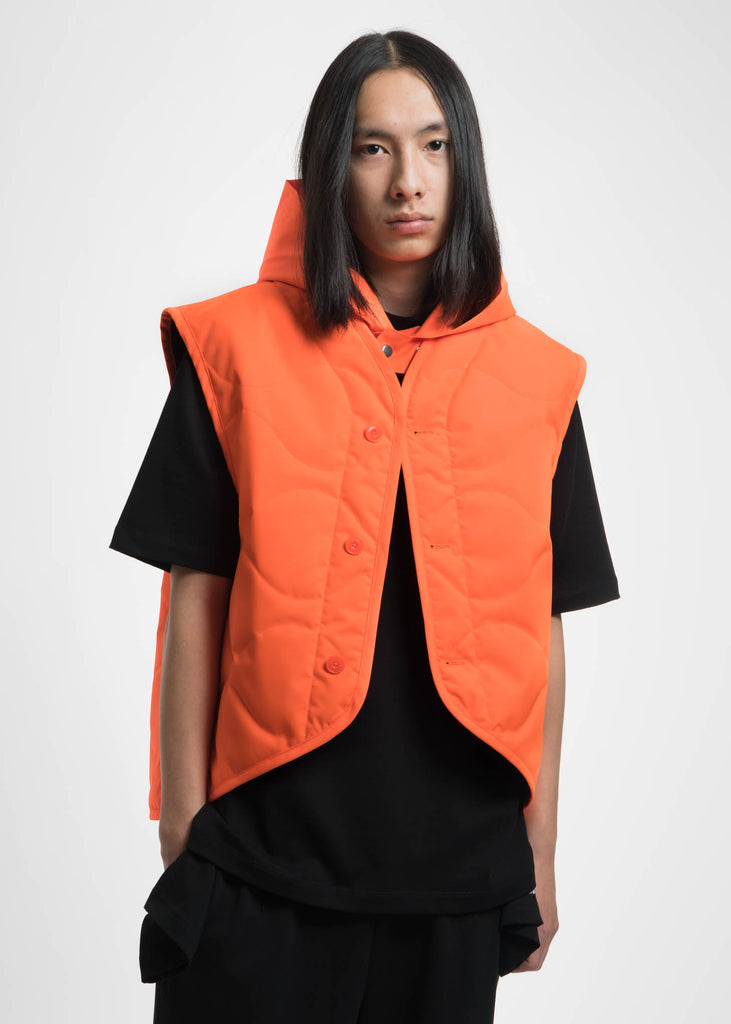 Safety Orange Quilted Vest