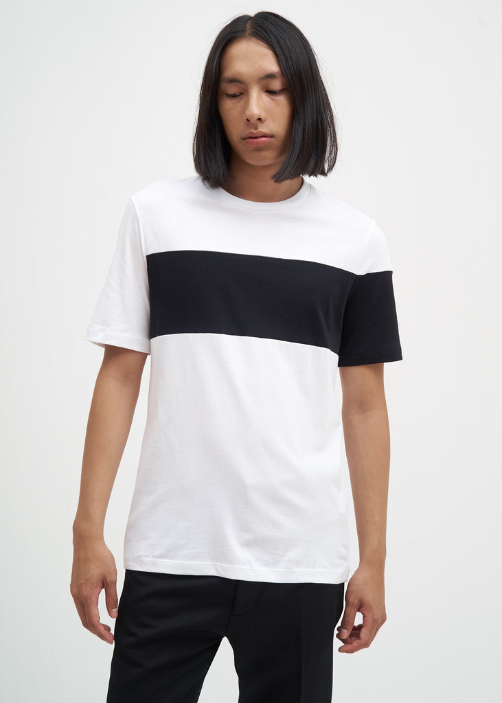 Helmut Lang, White Band Logo T-Shirt, 017 Shop
