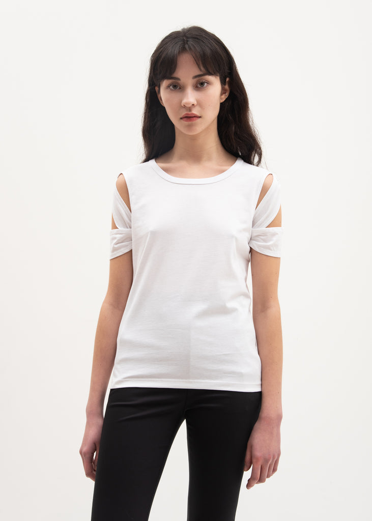White Bondage Sleeve T-Shirt