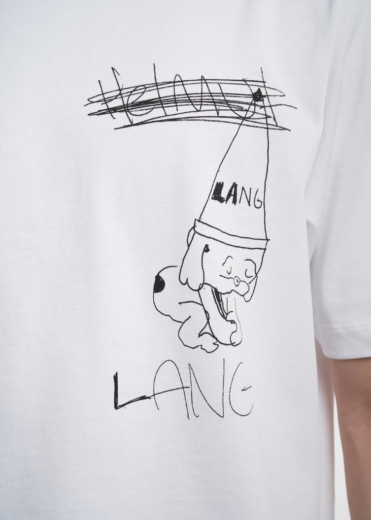 Helmut Lang, White Puppy T-Shirt, 017 Shop