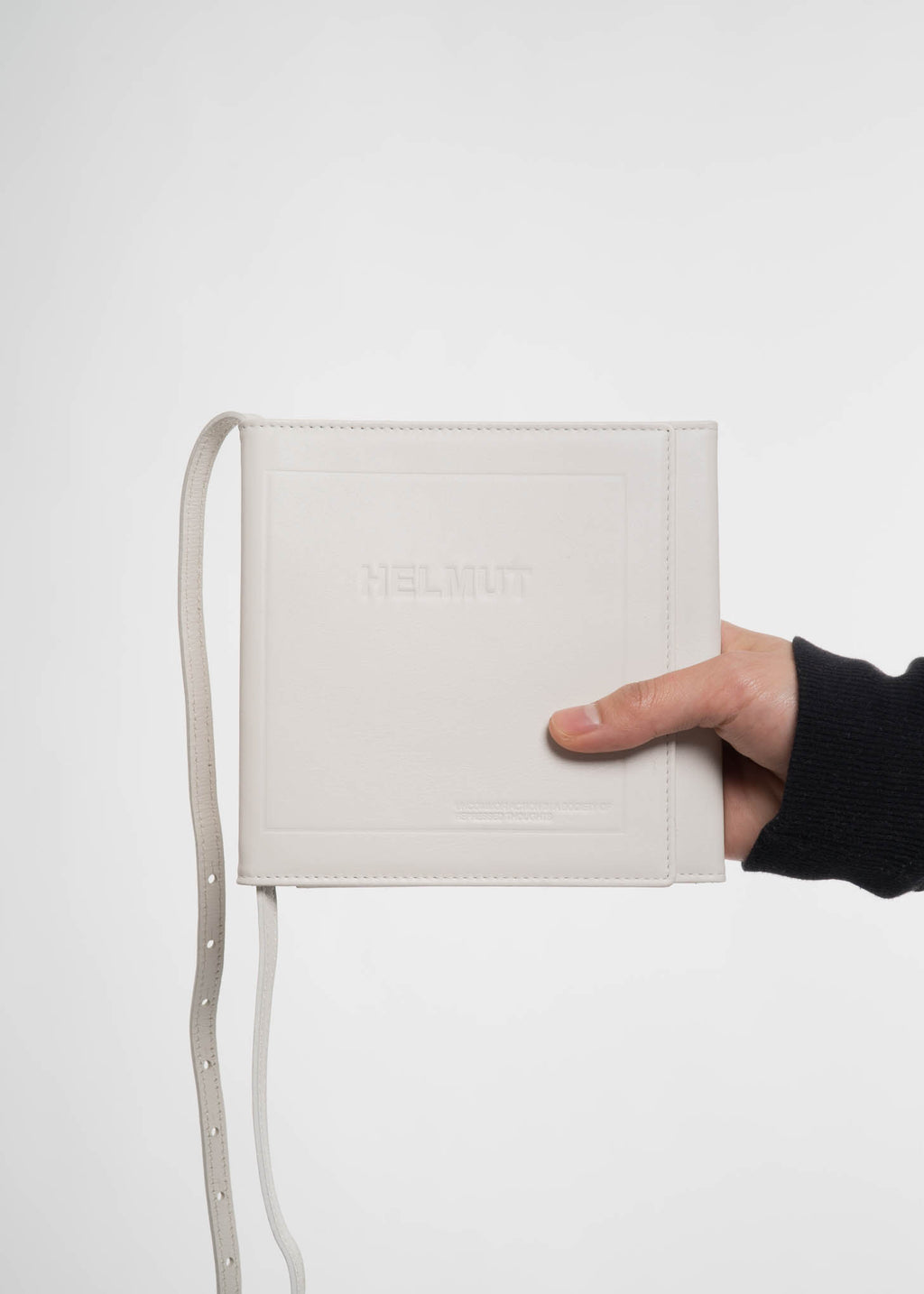 White Trifold CD Wallet