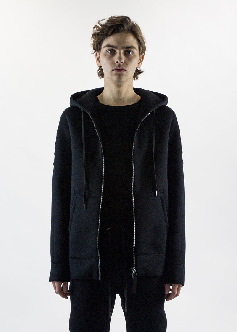 Helmut Lang Men's Black tape zip up hoodie