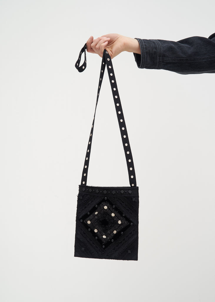Hyein Seo, Black Beaded Cross Bag, 017 Shop