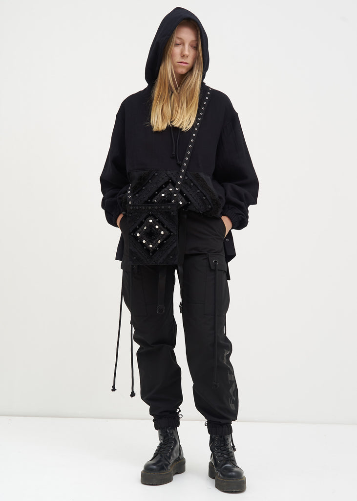 Hyein Seo, Black Beaded Hoodie, 017 Shop