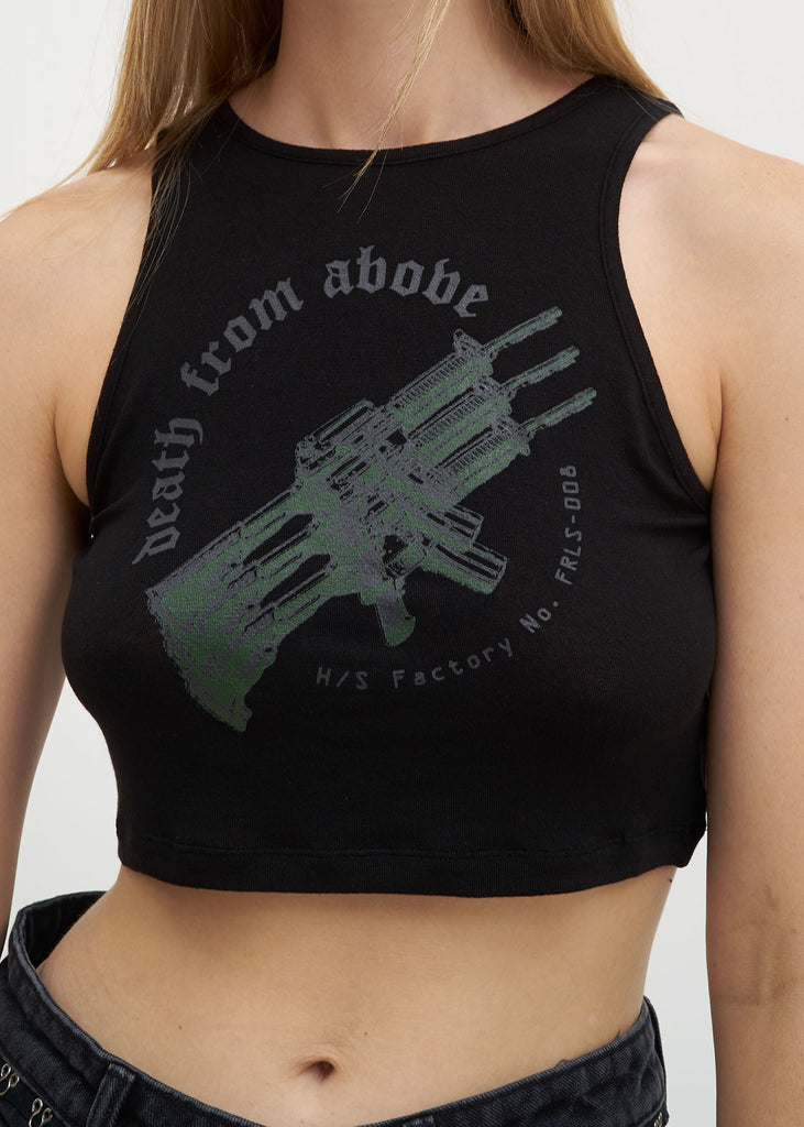Black Jersey Crop Top