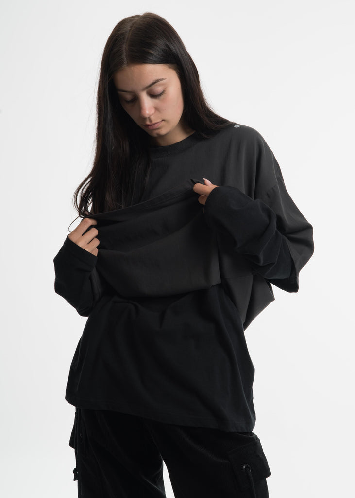 Hyein Seo, Black Layered T-Shirt, 017 Shop