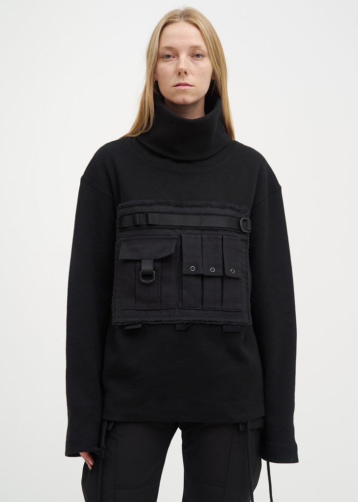 Black Military Turtle Neck