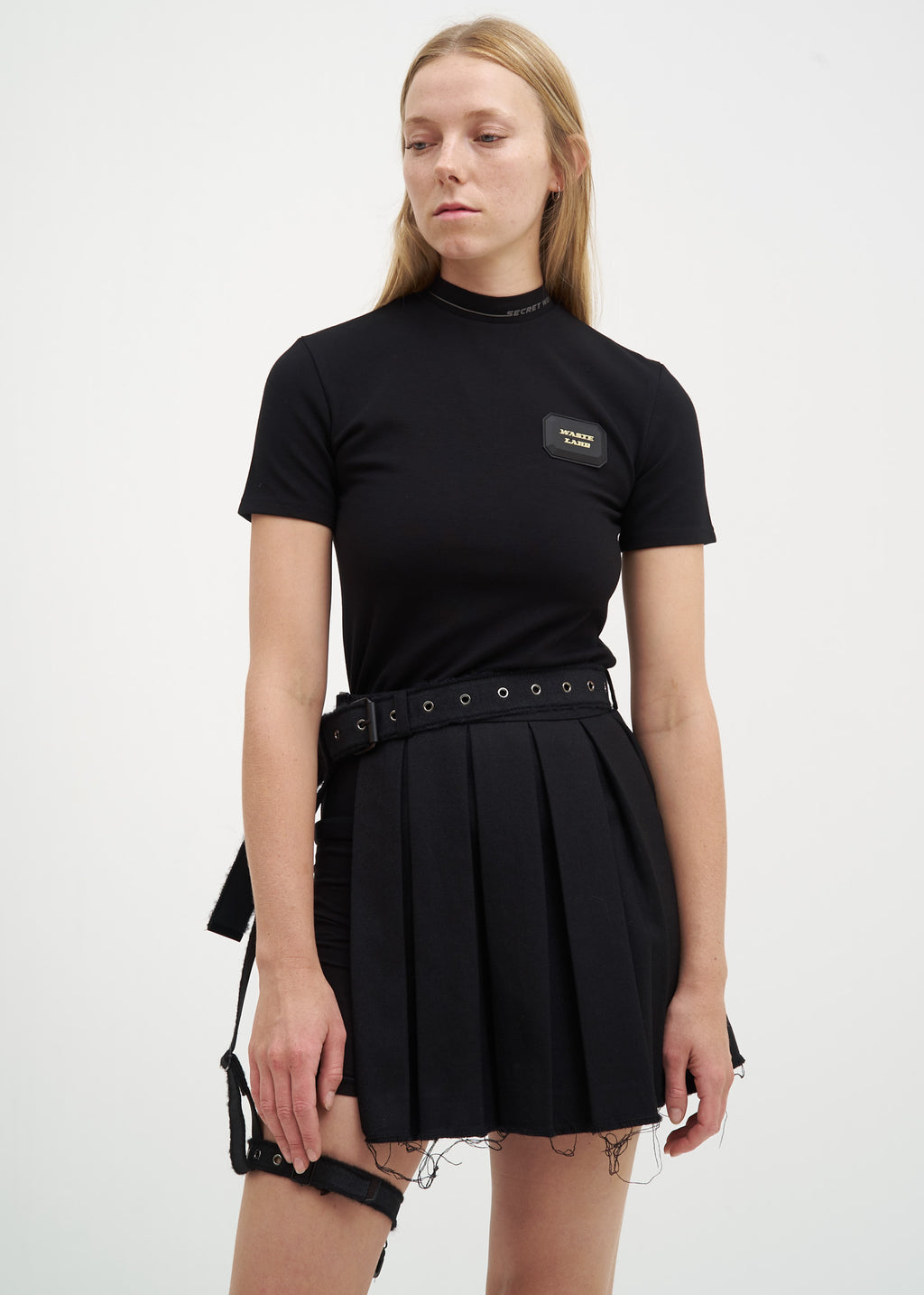 Hyein Seo, Black Rubber Label T-Shirt, 017 Shop