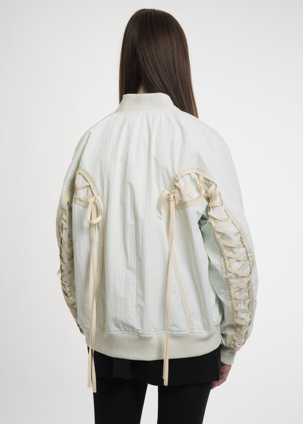 Green Ribbon Bomber Jacket