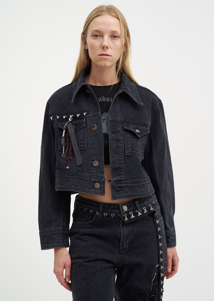 Hyein Seo, Grey Denim Trucker Jacket, 017 Shop