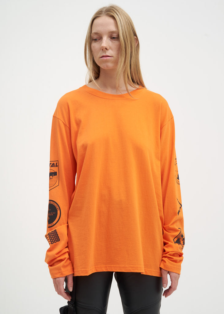 Orange Graphic L/S Shirt
