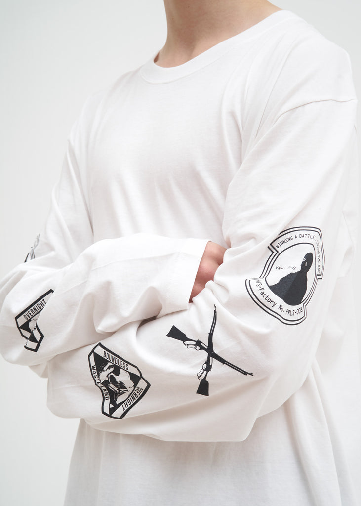 Hyein Seo, White Graphic L/S Shirt, 017 Shop