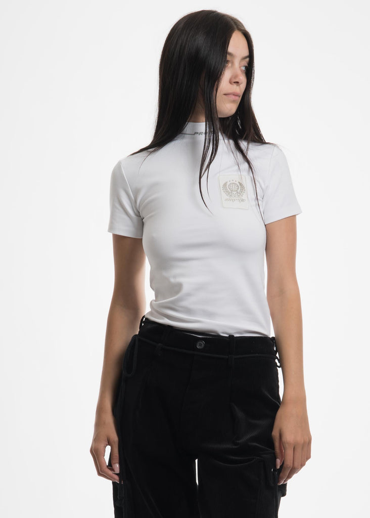 Hyein Seo, White Rubber Label T-Shirt, 017 Shop