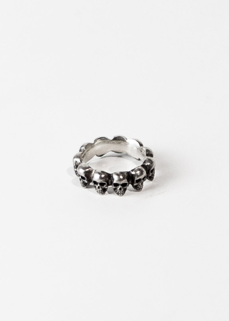 Small Skull Bandoier Ring