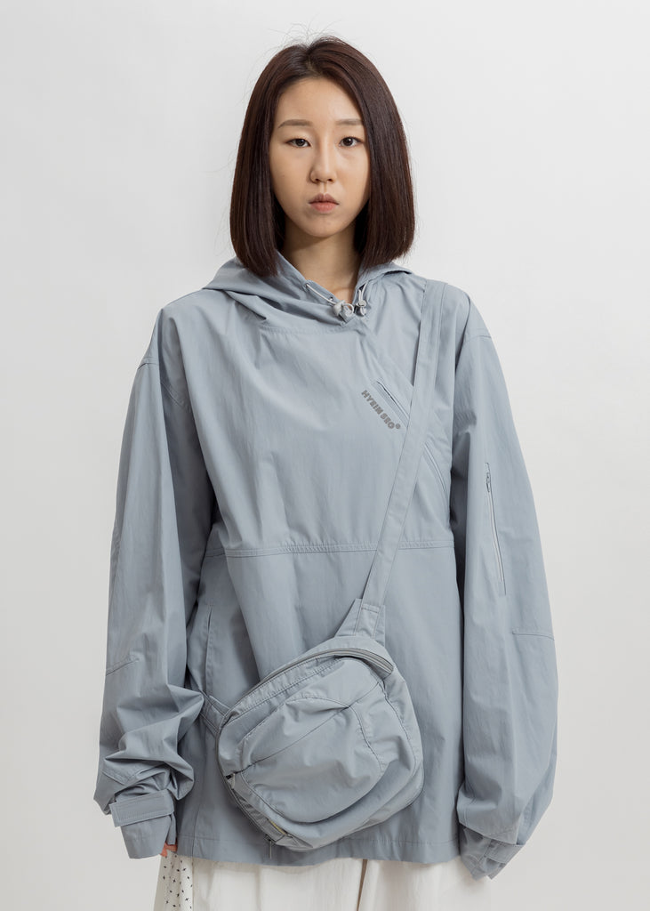 Light Blue Packable Anorak