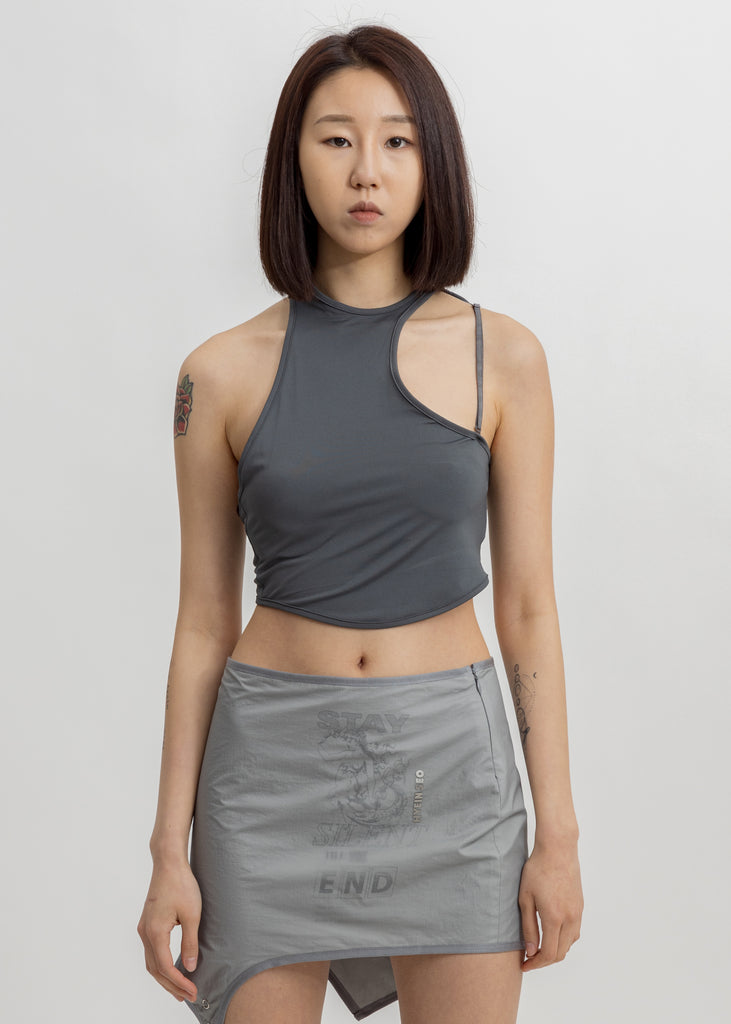 Grey Crescent Top