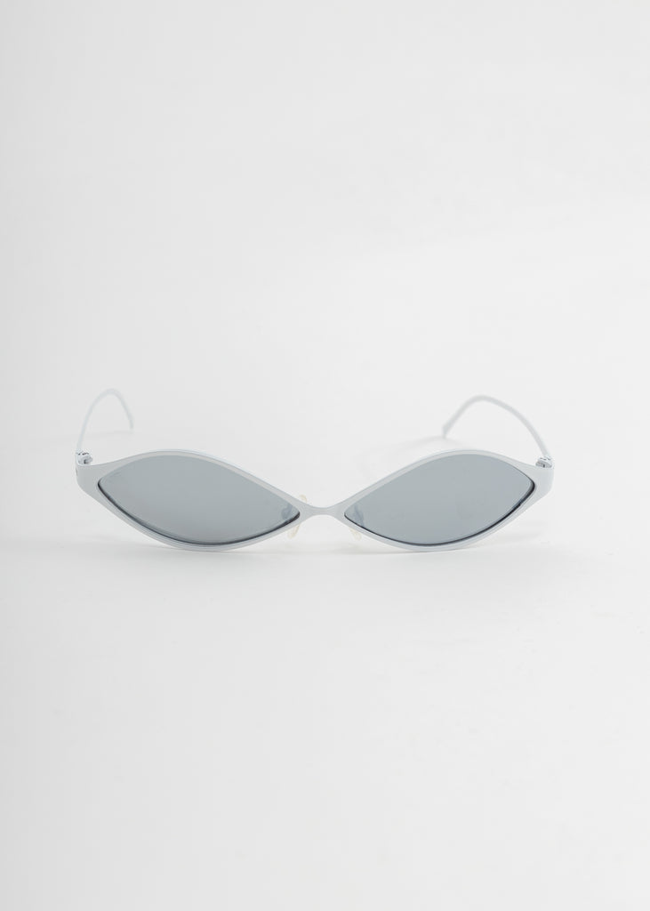 White Metal Sunglasses