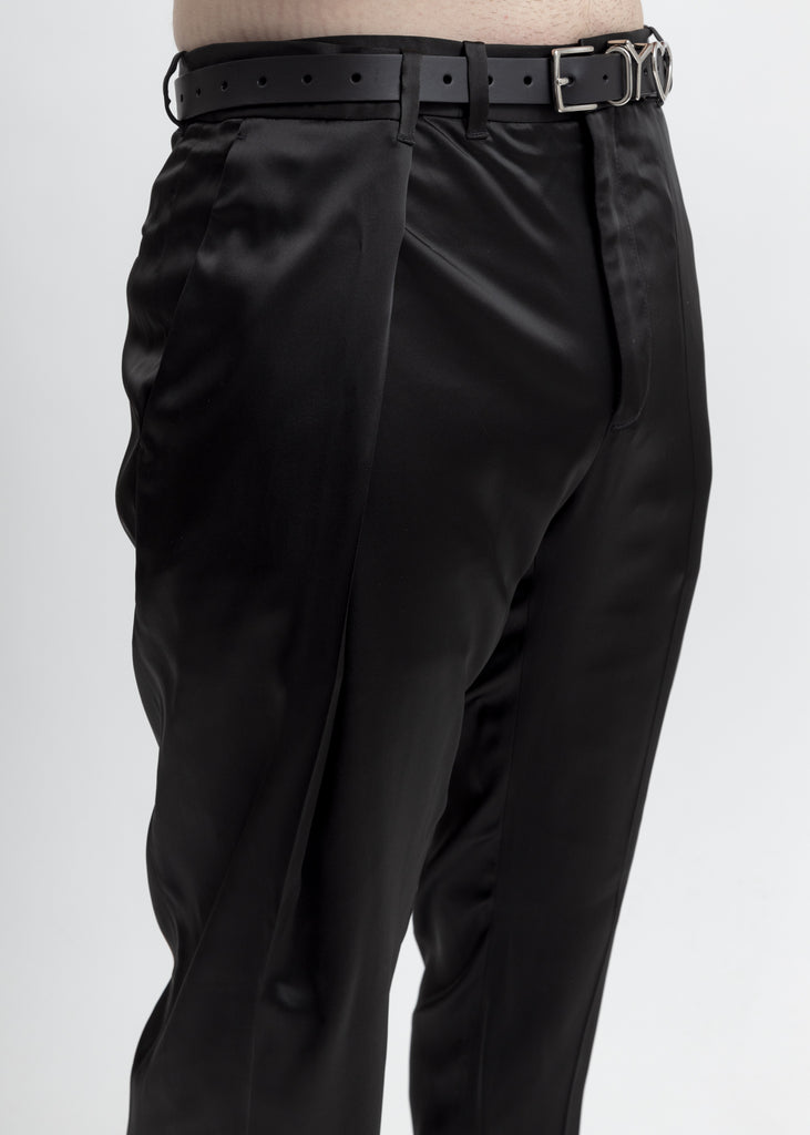 Matte Black Oversized Waist Trousers