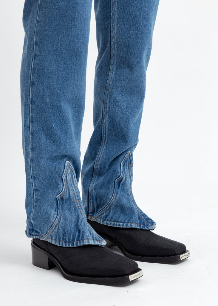 Blue Cowboy Boot Denim Jeans