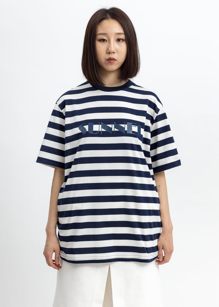 Navy Stripes Logo T-Shirt