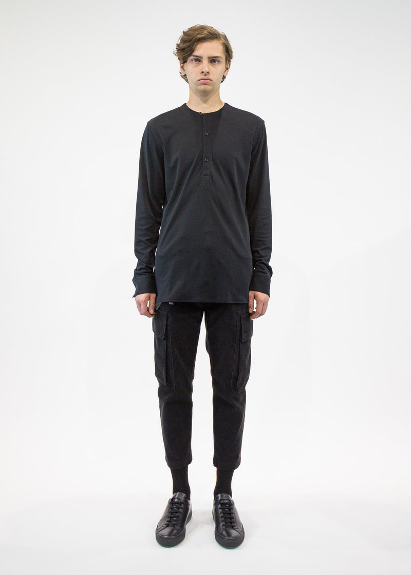 Helmut Lang Men's collarless pullover