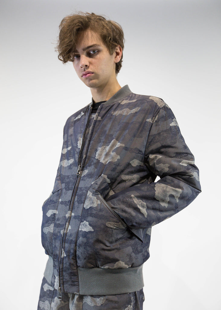 Helmut Lang Men's camo Zip Up Bomber