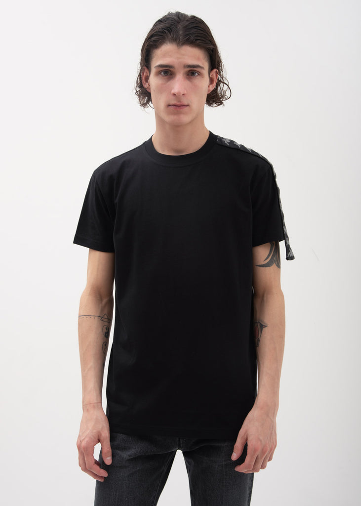 Black One Sleeve Banda T-Shirt
